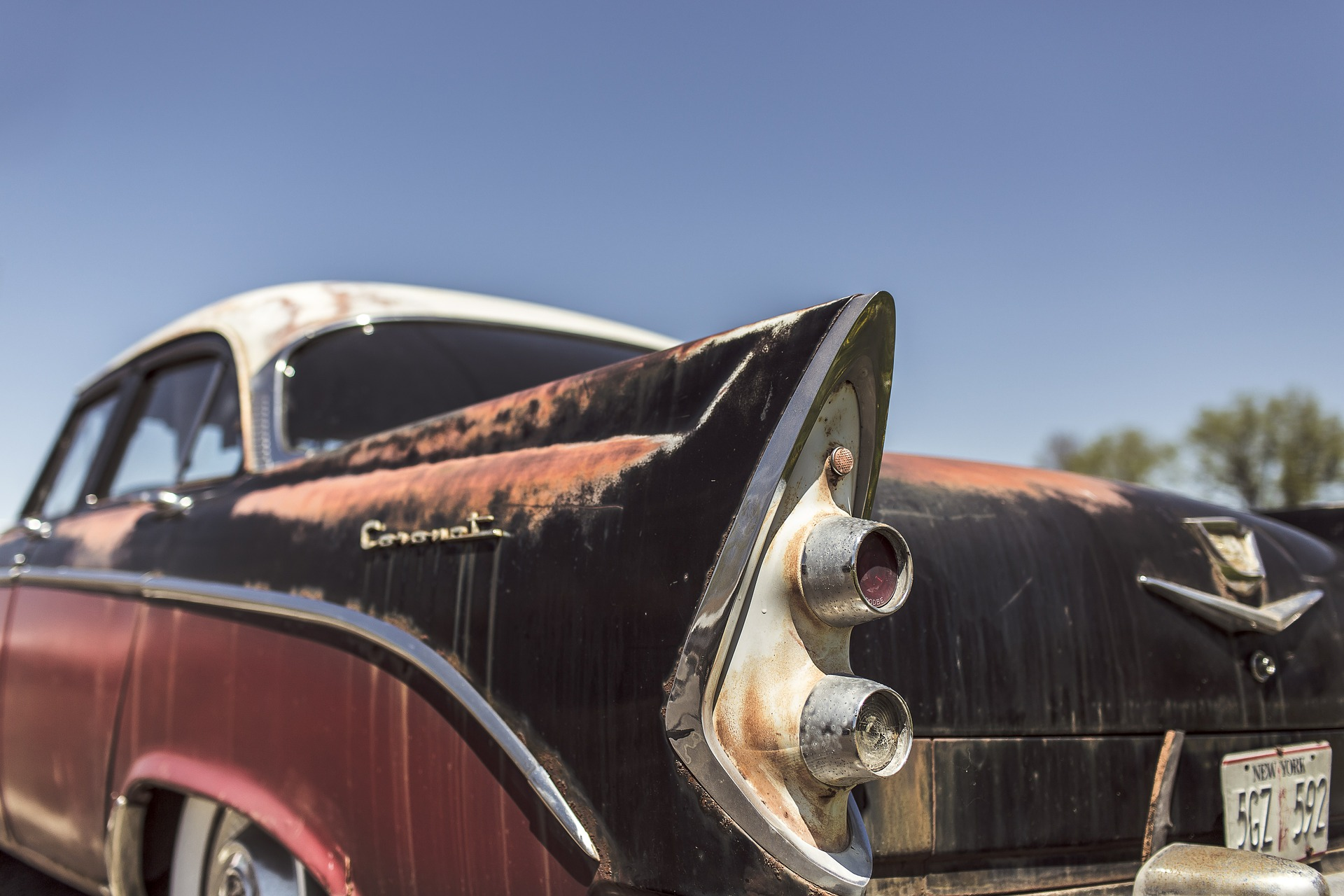 faded vintage car