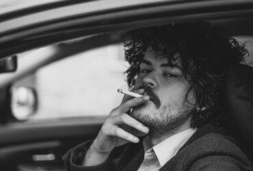 smoking inside a car