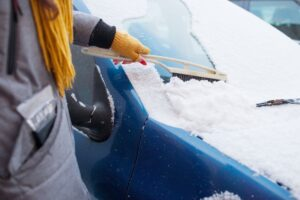 Removing ice on windshield