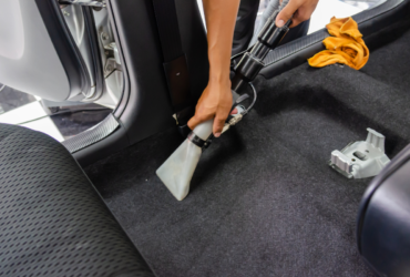 cleaning a car carpet
