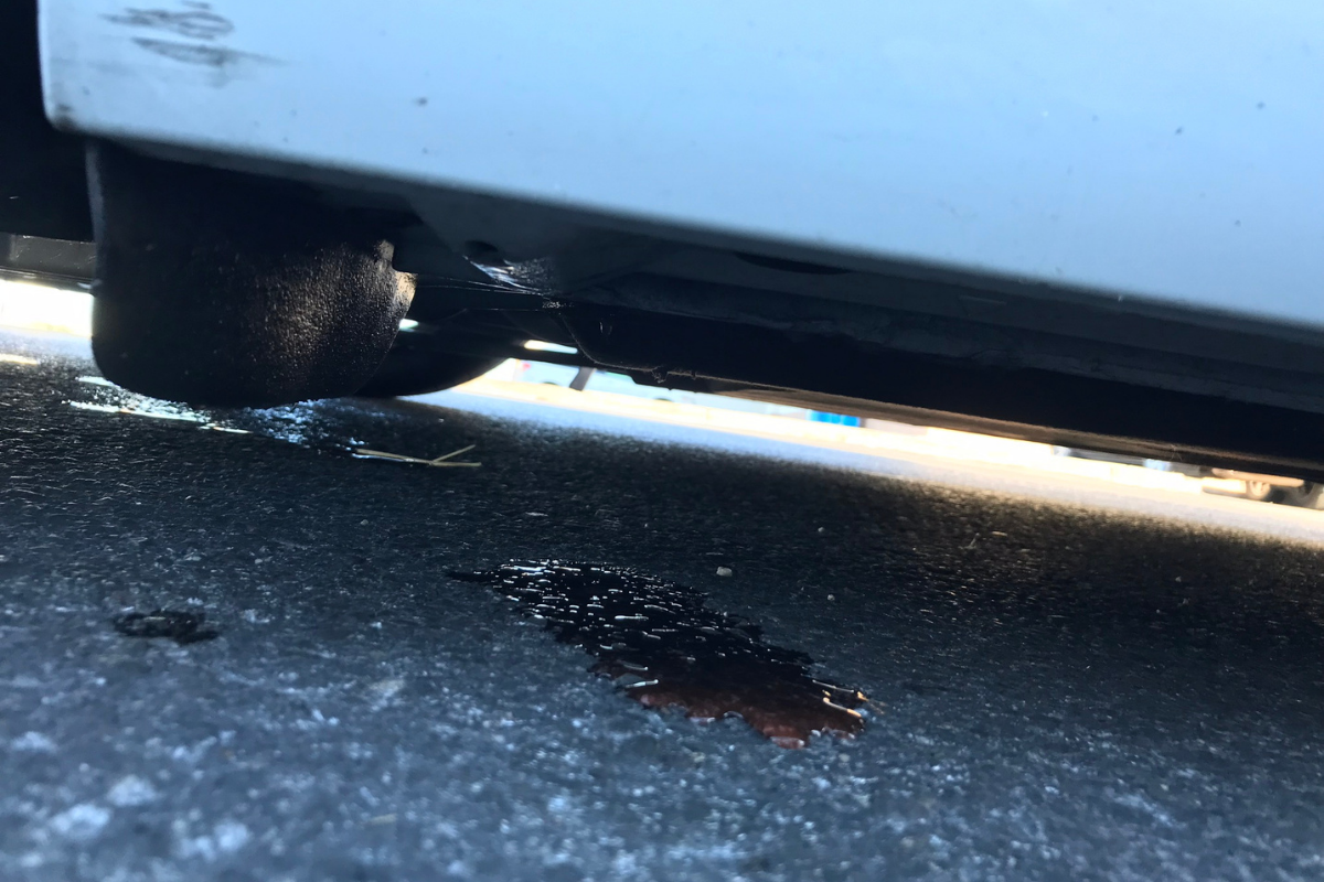 parked car leaking water